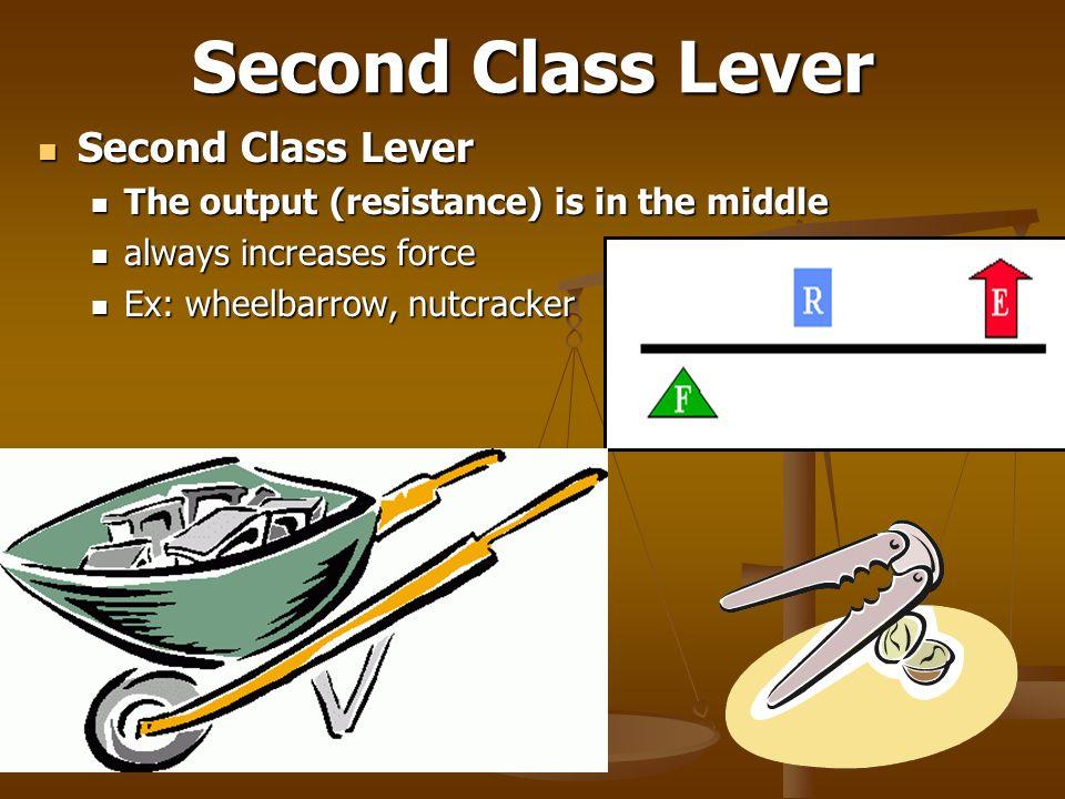 Second Class Lever Second Class Lever