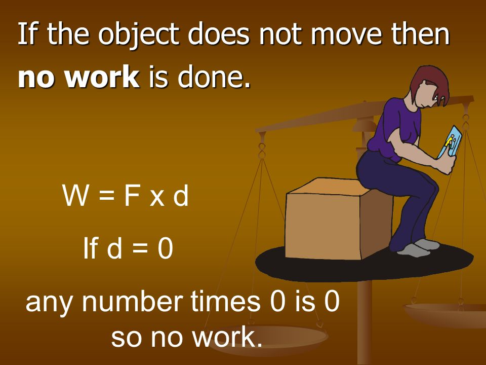 If the object does not move then
