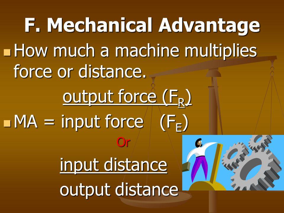 F. Mechanical Advantage