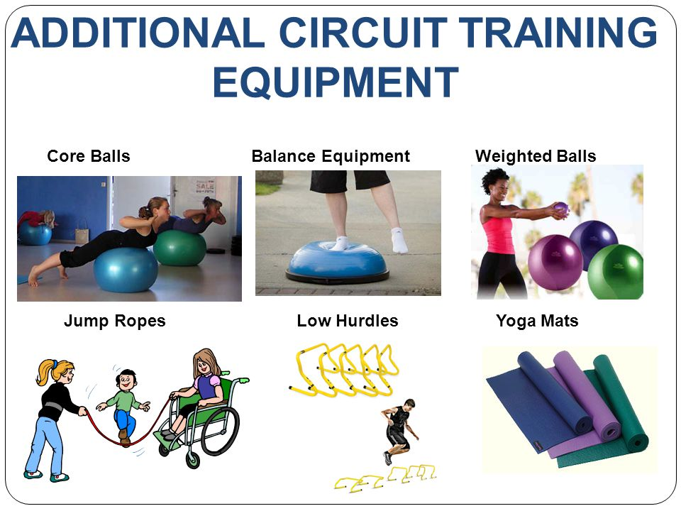 ADDITIONAL CIRCUIT TRAINING EQUIPMENT