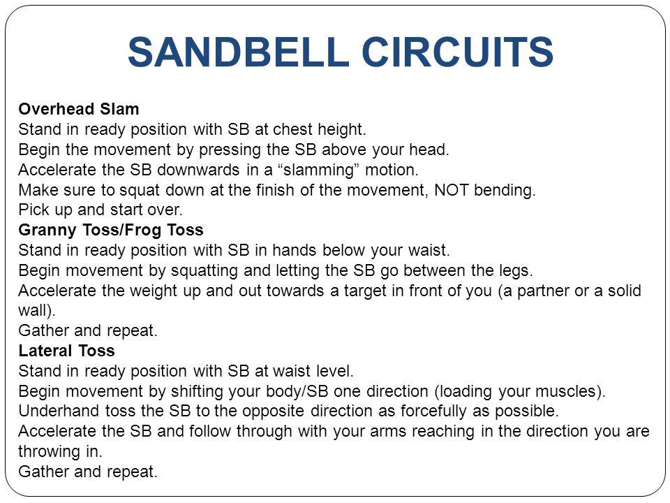 SANDBELL CIRCUITS Overhead Slam