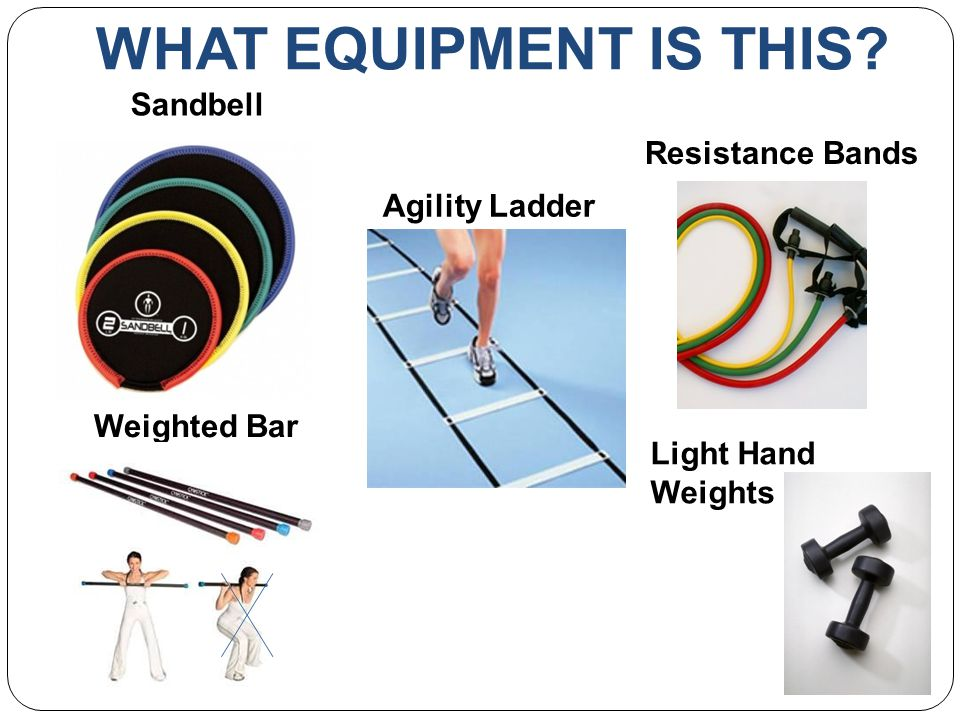WHAT EQUIPMENT IS THIS Sandbell Agility Ladder Weighted Bar