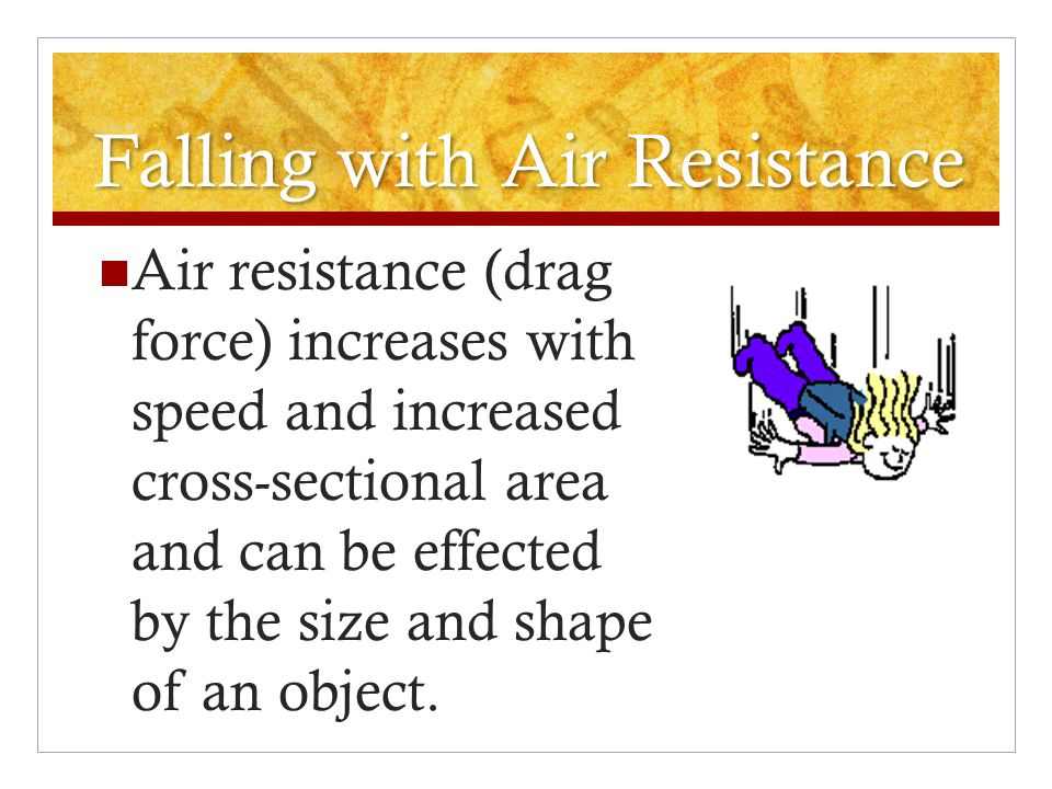 Falling with Air Resistance