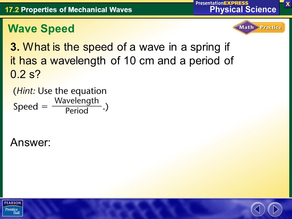 Wave Speed 3.