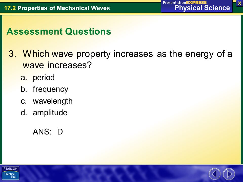 Which wave property increases as the energy of a wave increases