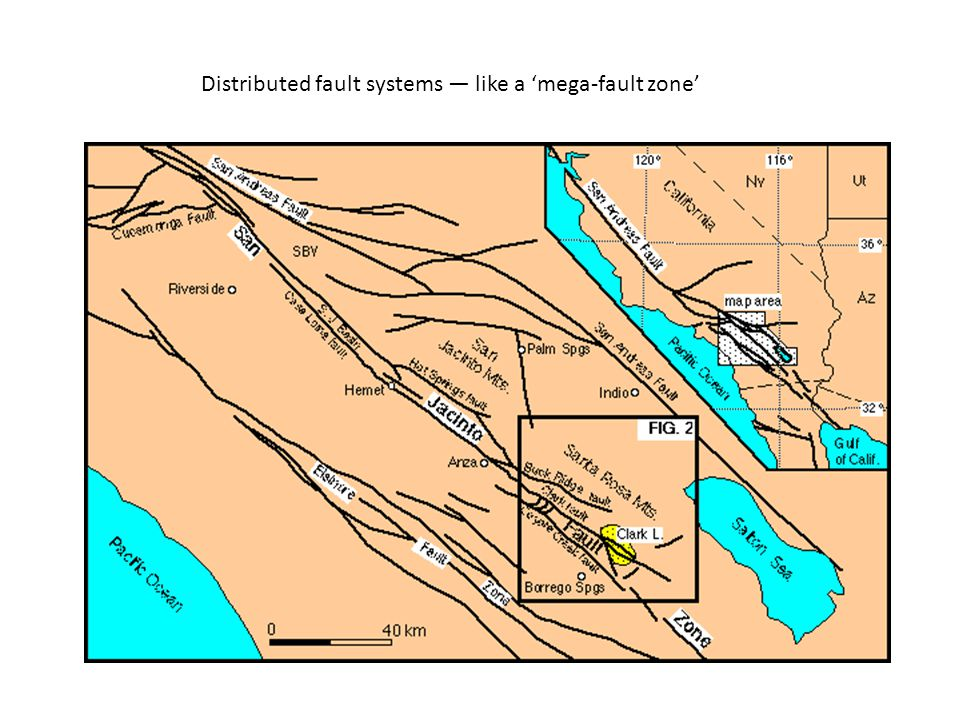 Distributed fault systems — like a 'mega-fault zone'