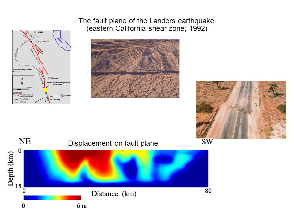 The fault plane of the Landers earthquake