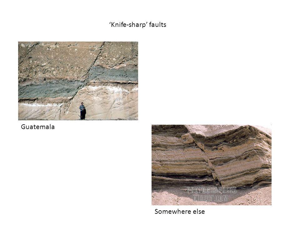 'Knife-sharp' faults Guatemala Somewhere else