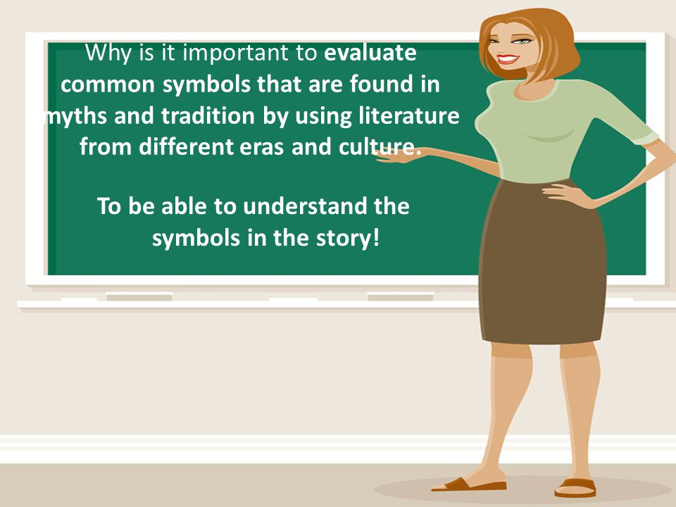 To be able to understand the symbols in the story!