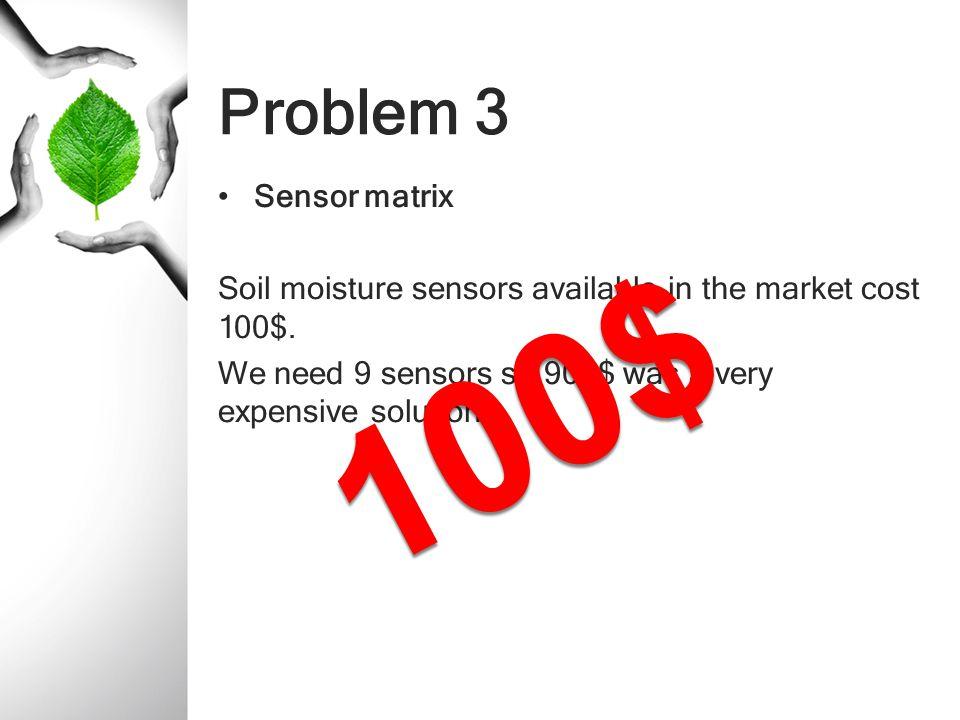 100$ Problem 3 Sensor matrix