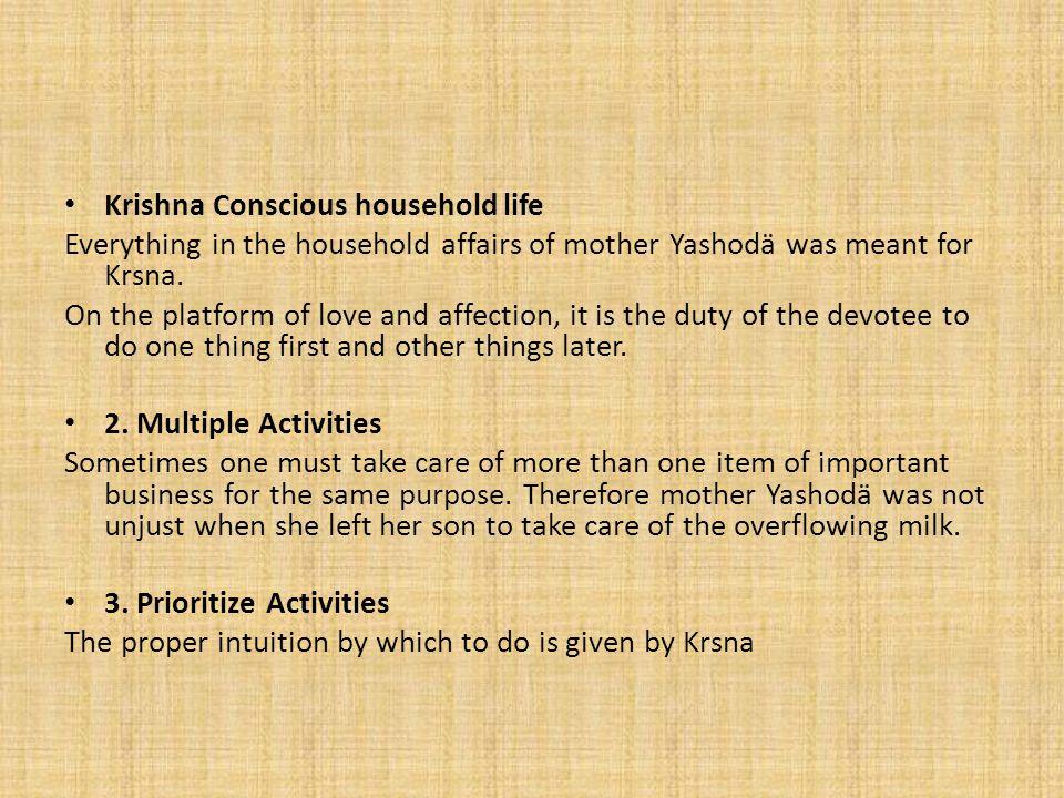 Krishna Conscious household life
