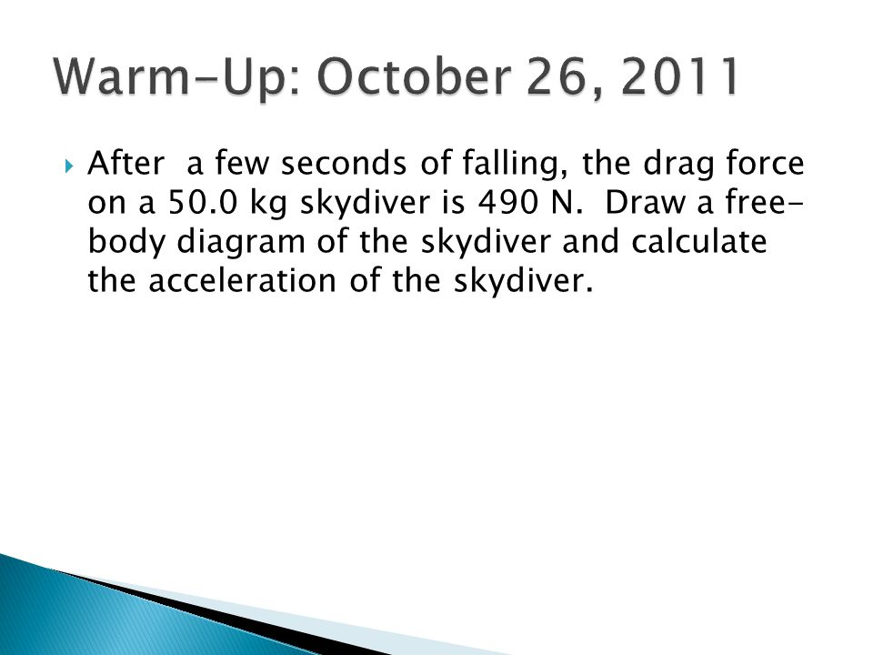 Warm-Up: October 26, 2011
