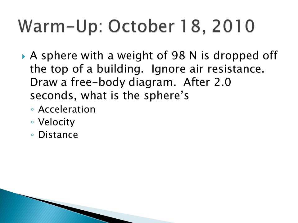 Warm-Up: October 18, 2010