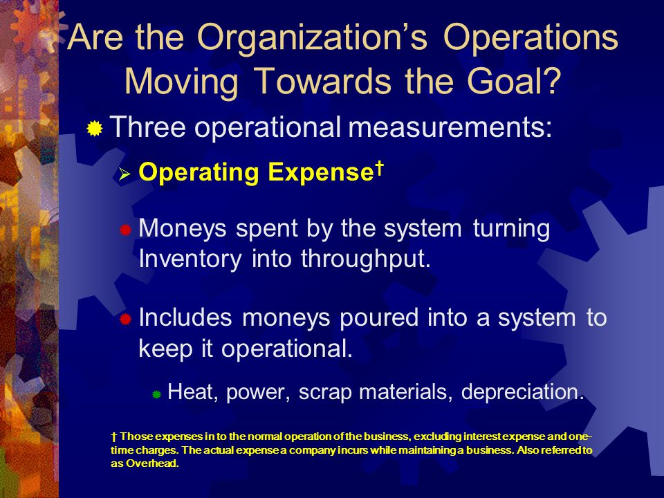Are the Organization's Operations Moving Towards the Goal