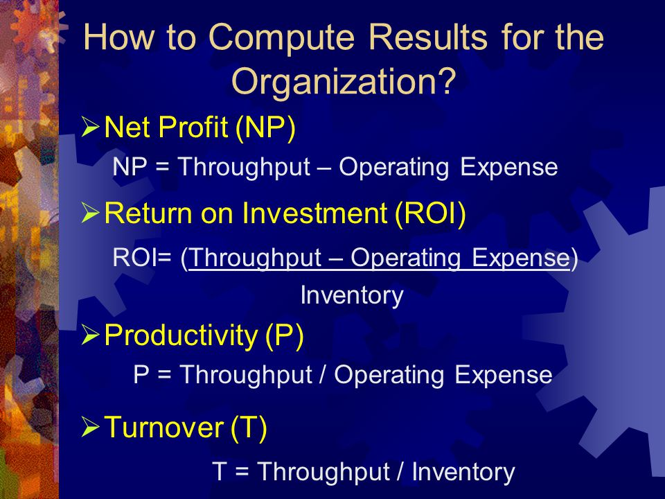 How to Compute Results for the Organization