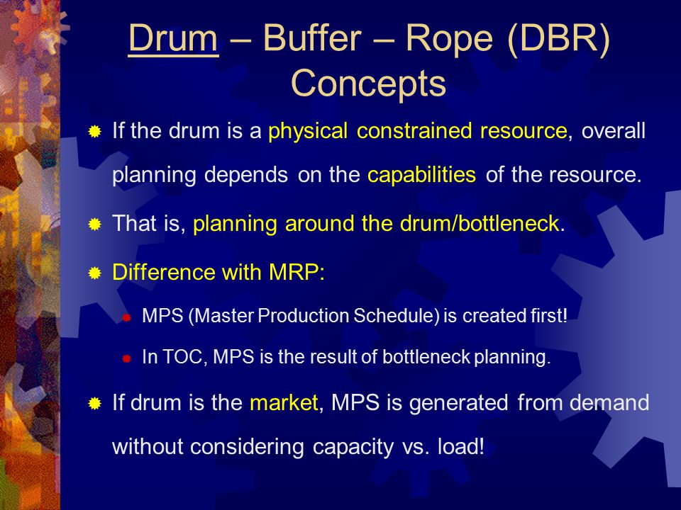 Drum – Buffer – Rope (DBR) Concepts