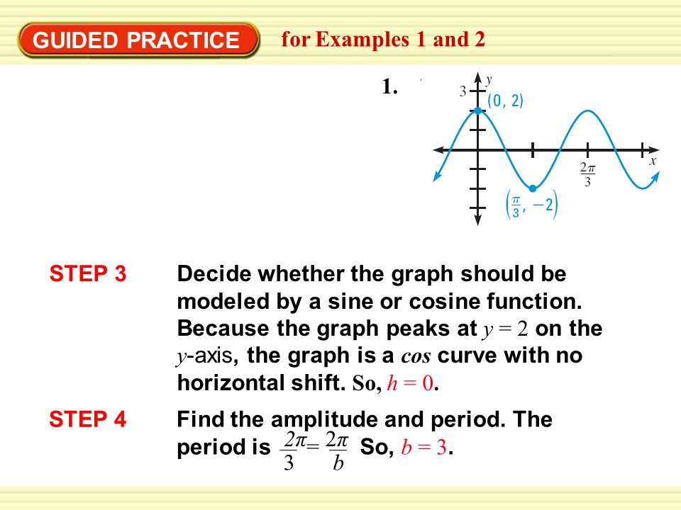 GUIDED PRACTICE for Examples 1 and 2. 1. STEP 3.