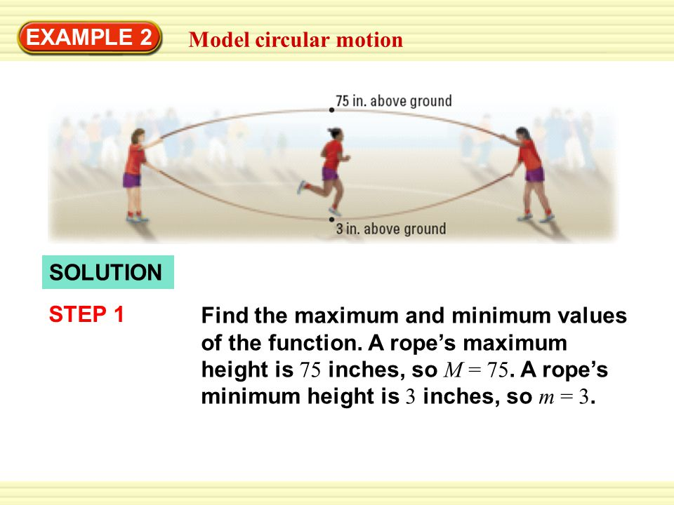 EXAMPLE 2 Model circular motion. SOLUTION. STEP 1.