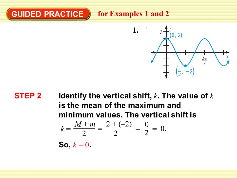 GUIDED PRACTICE for Examples 1 and 2. 1. STEP 2.