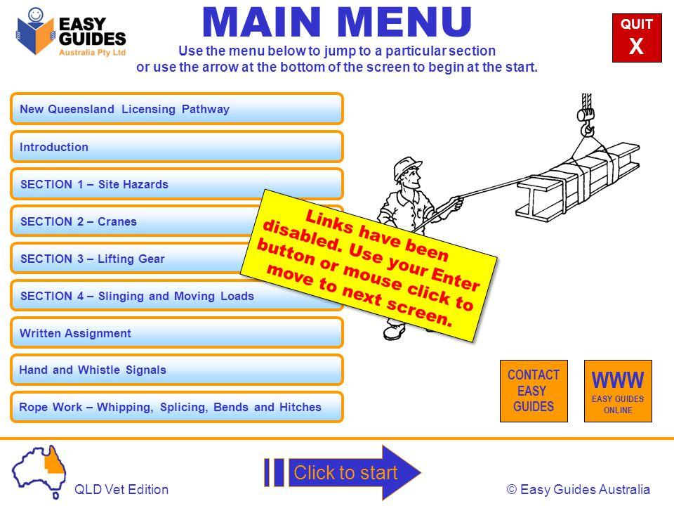 MAIN MENU X WWW Click to start