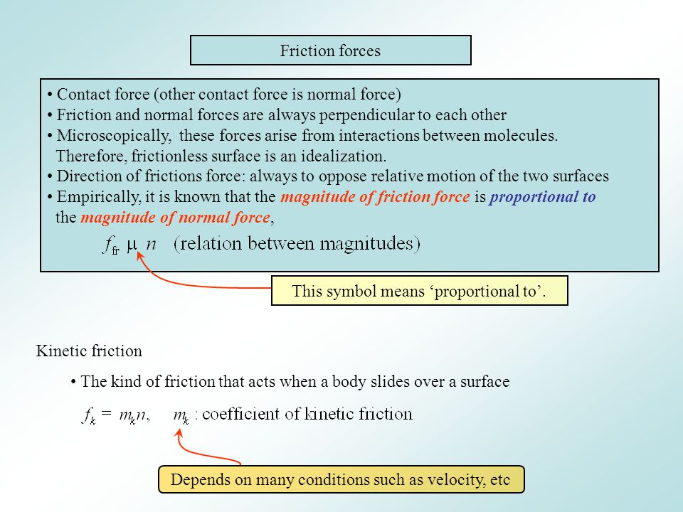 Contact force (other contact force is normal force)