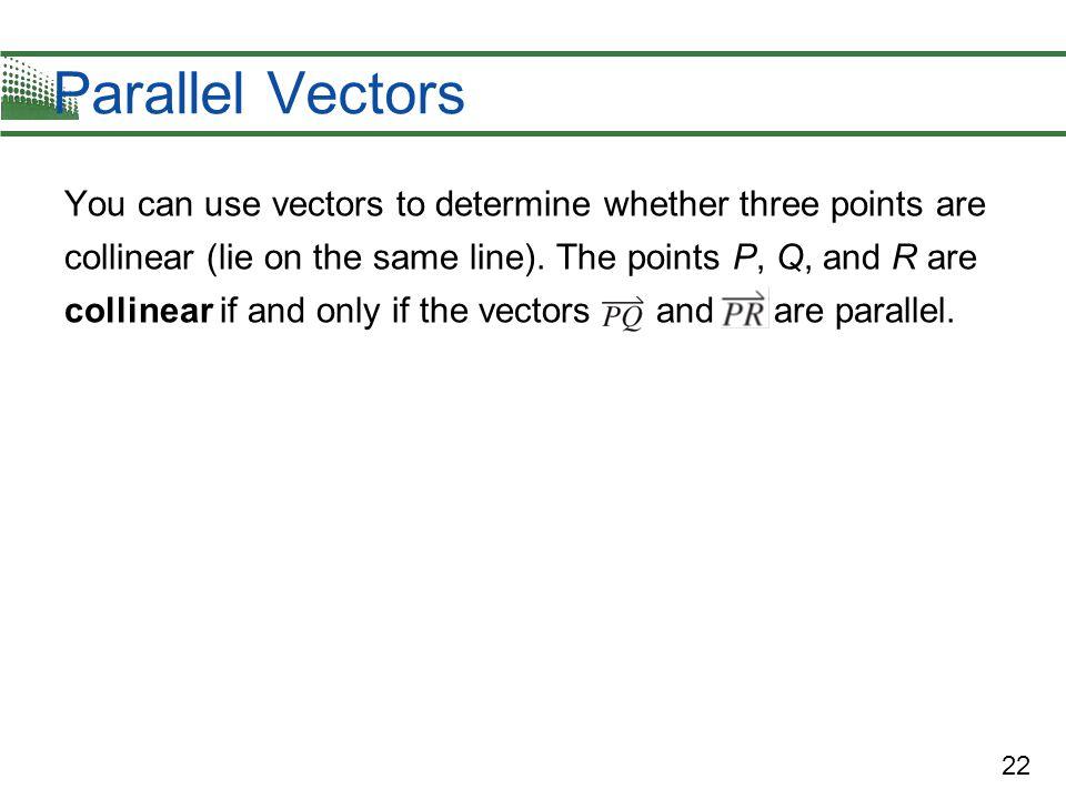 Parallel Vectors
