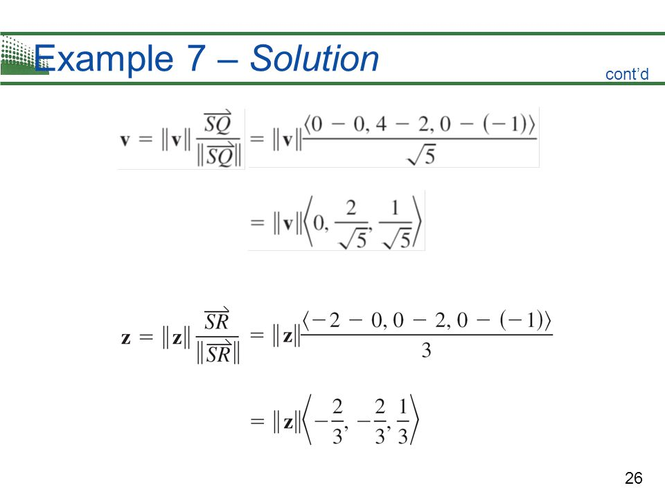 Example 7 – Solution cont'd