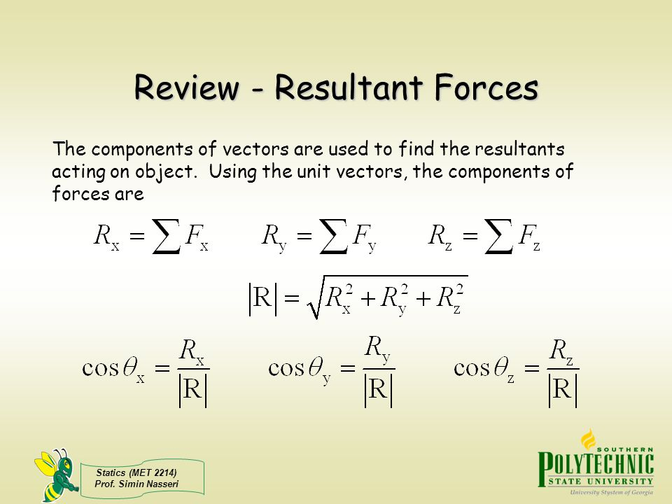 Review - Resultant Forces