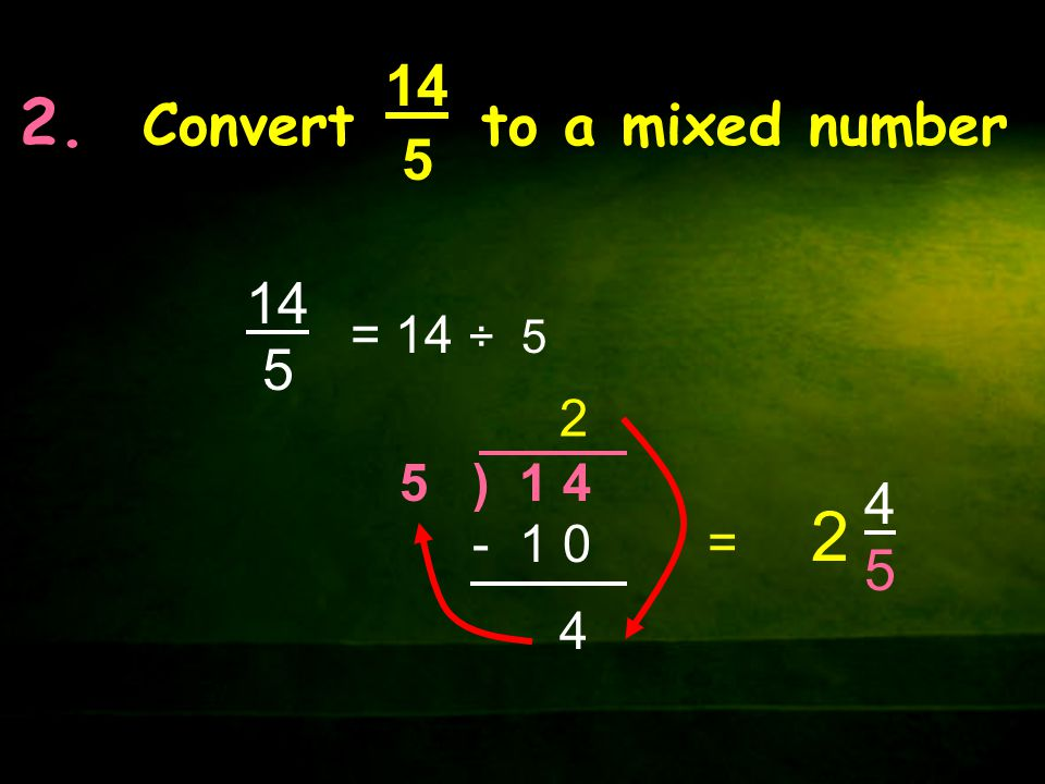 2. Convert to a mixed number