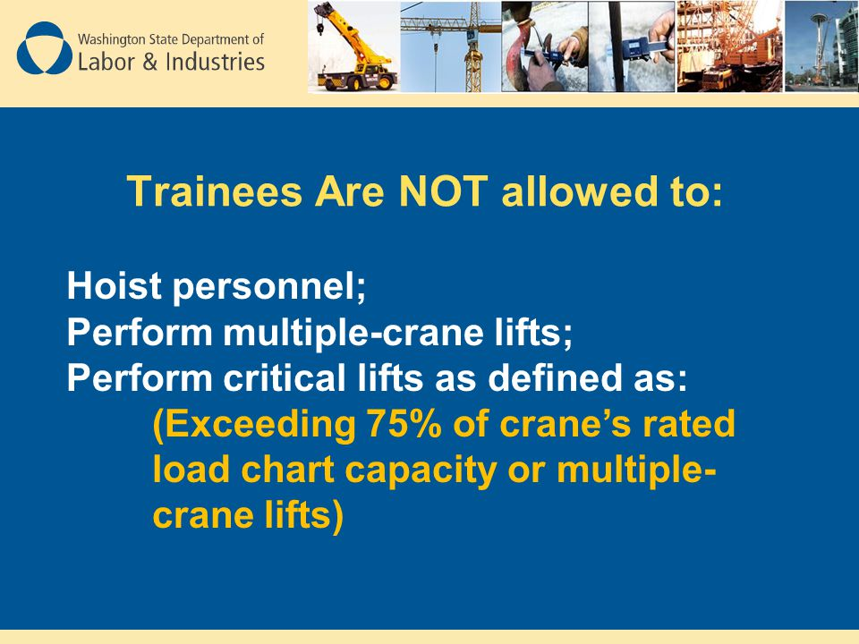 Trainees Are NOT allowed to: