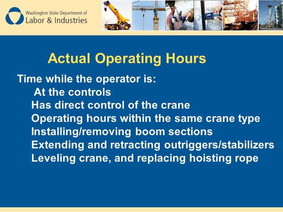 Actual Operating Hours