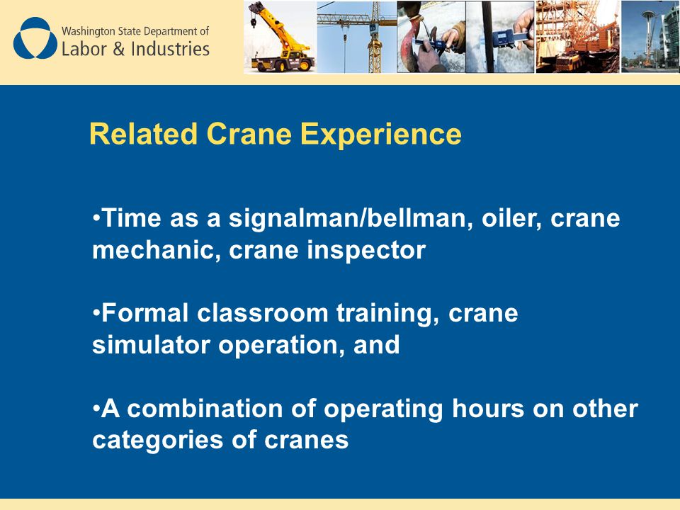 Related Crane Experience