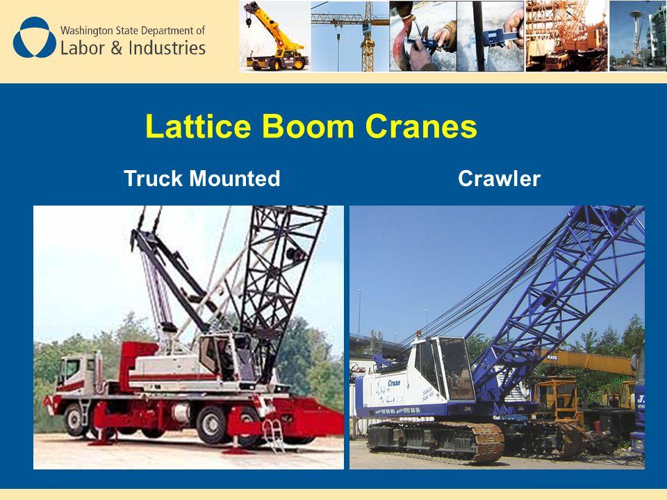 Lattice Boom Cranes Truck Mounted Crawler