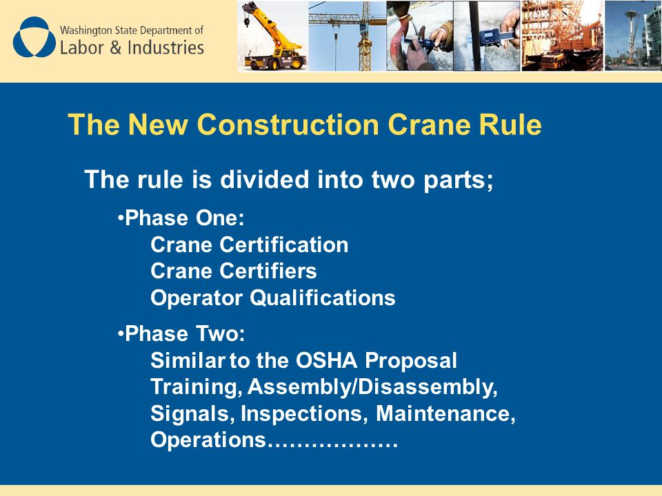The New Construction Crane Rule
