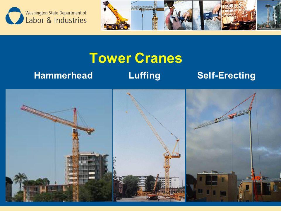 Tower Cranes Hammerhead Luffing Self-Erecting