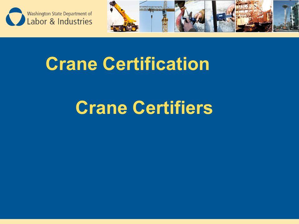 Crane Certification Crane Certifiers