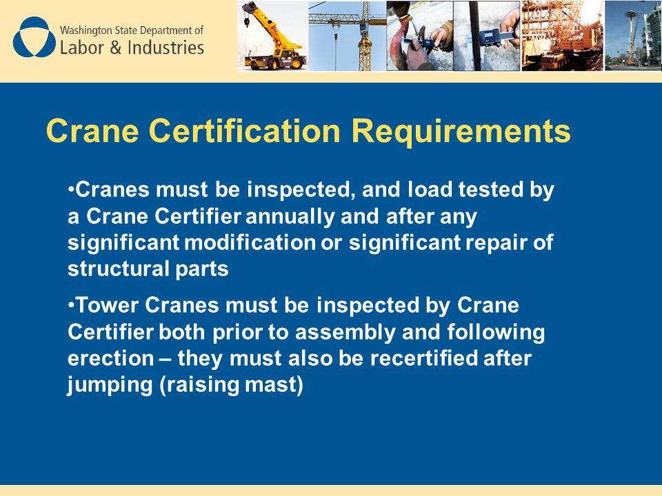 Crane Certification Requirements