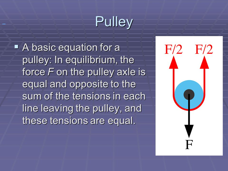 Pulley.