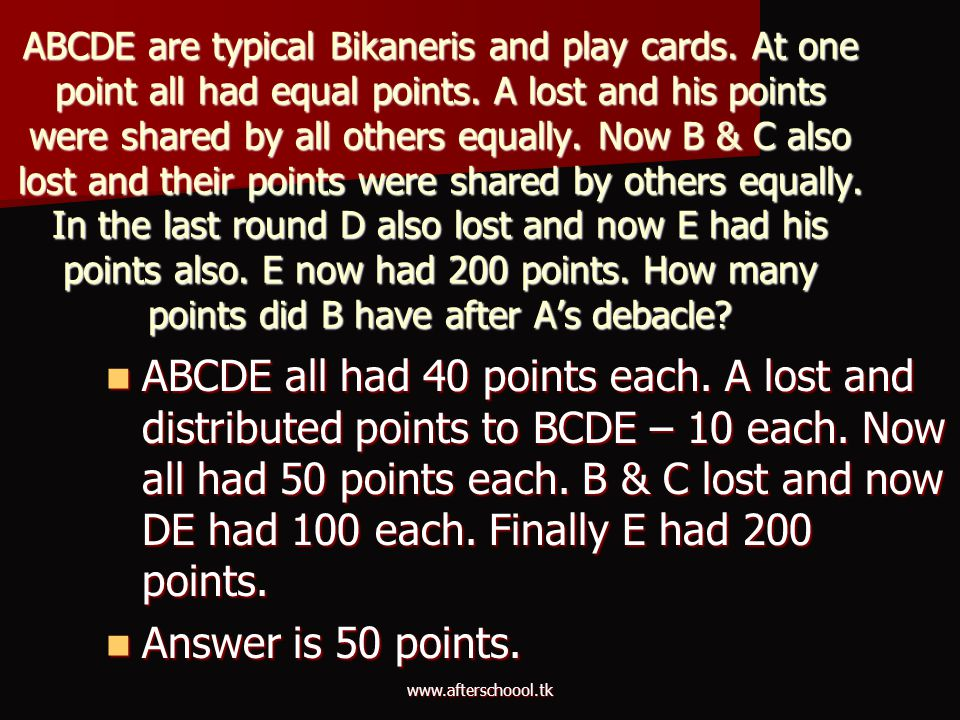 ABCDE are typical Bikaneris and play cards