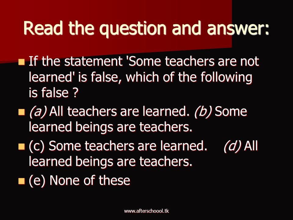Read the question and answer: