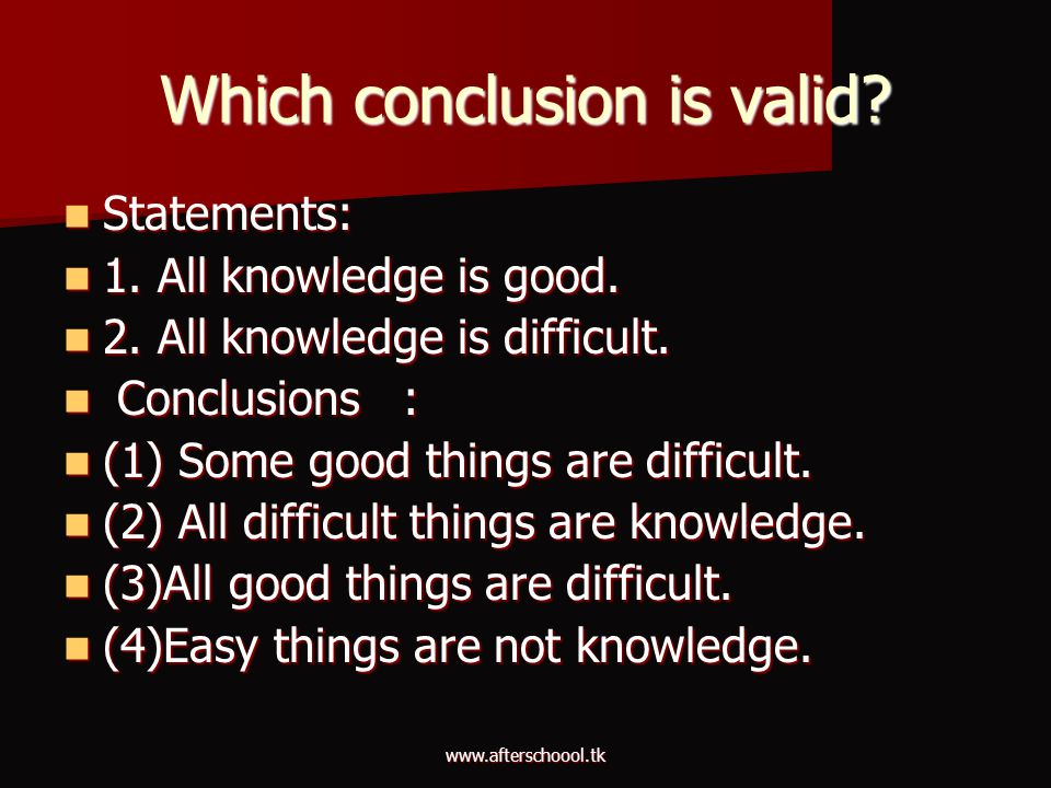 Which conclusion is valid