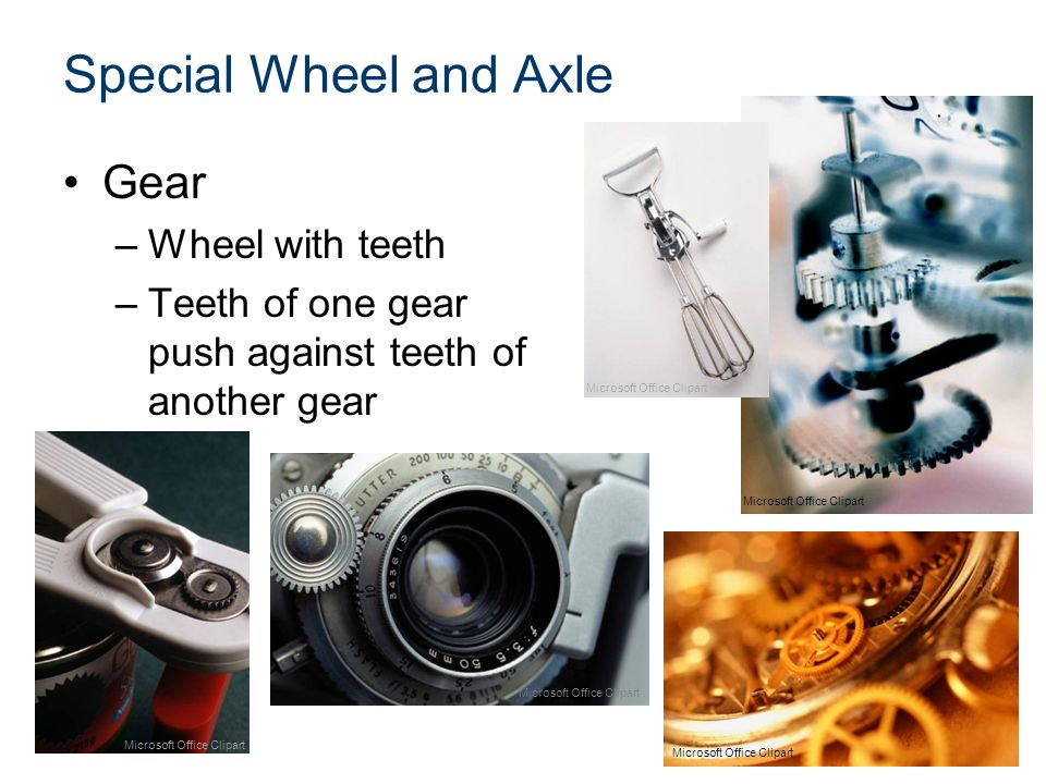 Special Wheel and Axle Gear Wheel with teeth