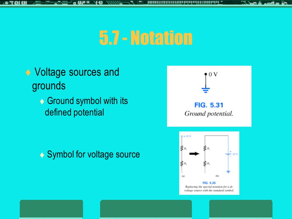 5.7 - Notation Voltage sources and grounds