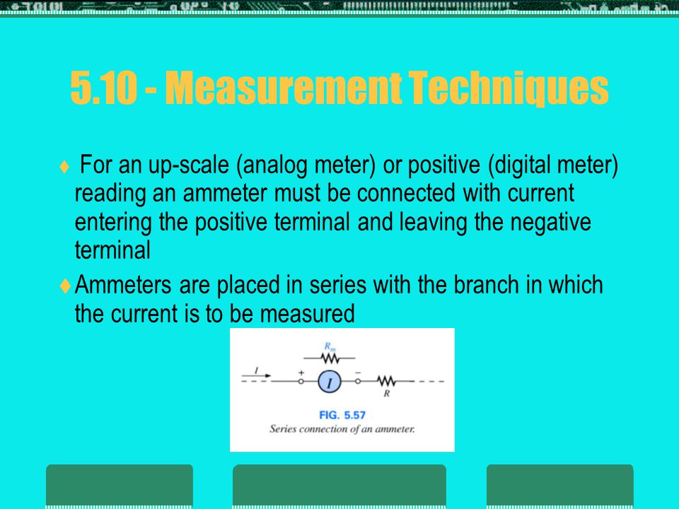 5.10 - Measurement Techniques