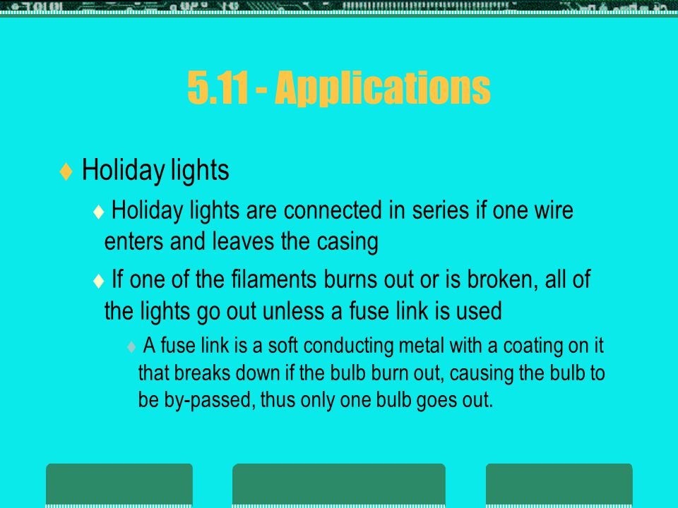 5.11 - Applications Holiday lights