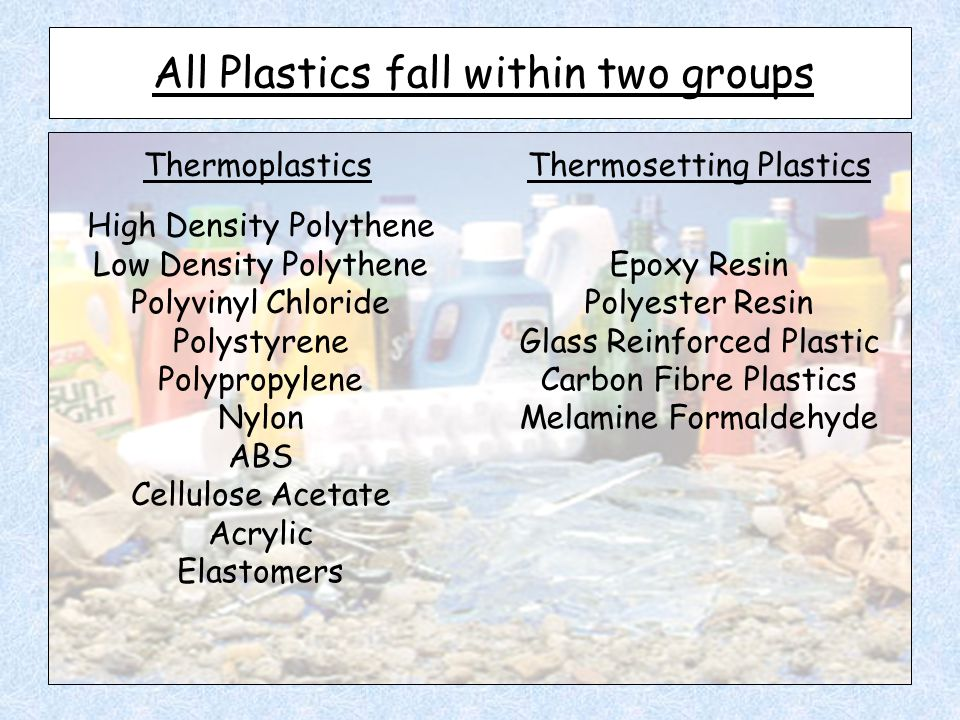 All Plastics fall within two groups