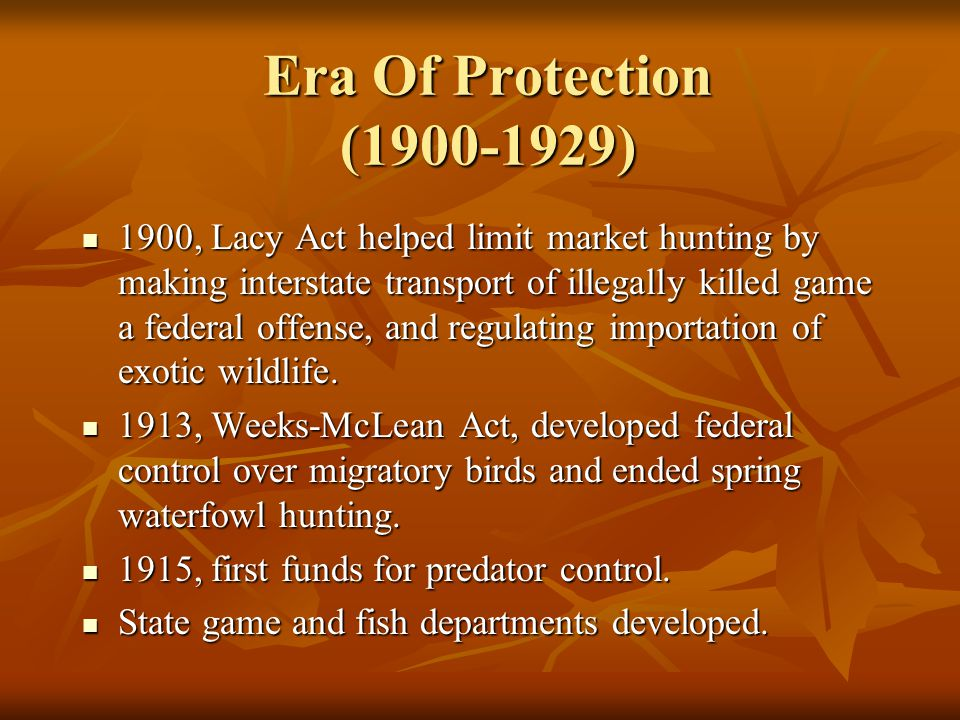 Era Of Protection (1900-1929)