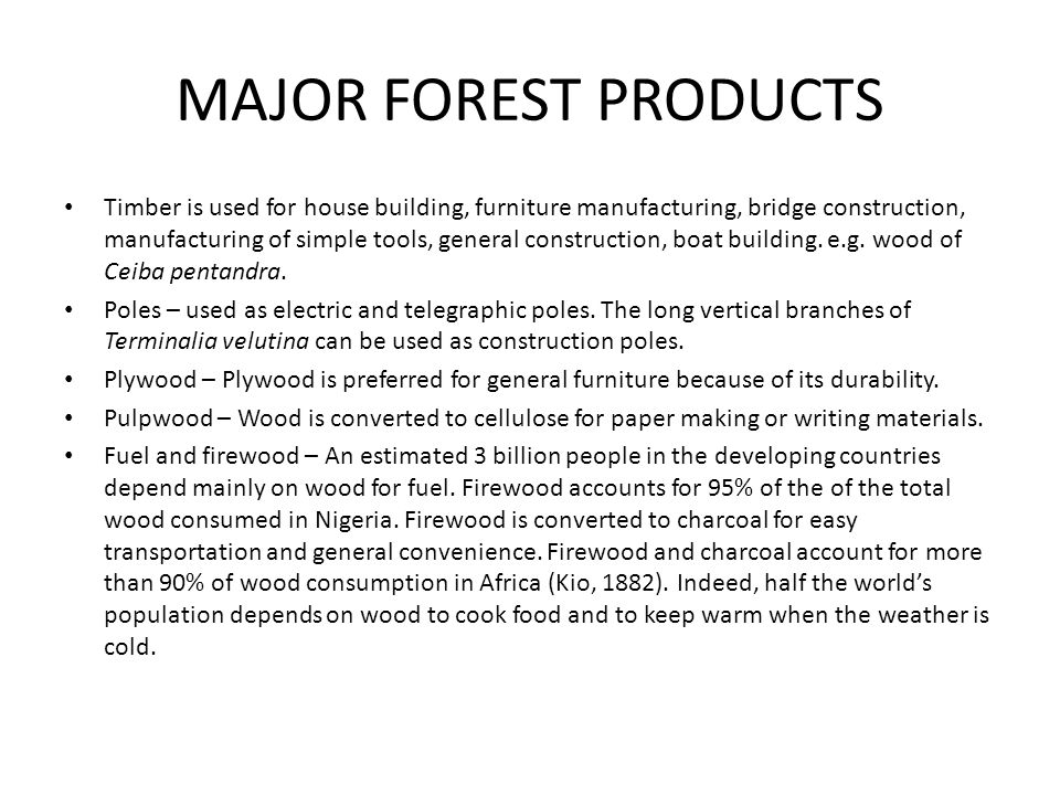 MAJOR FOREST PRODUCTS