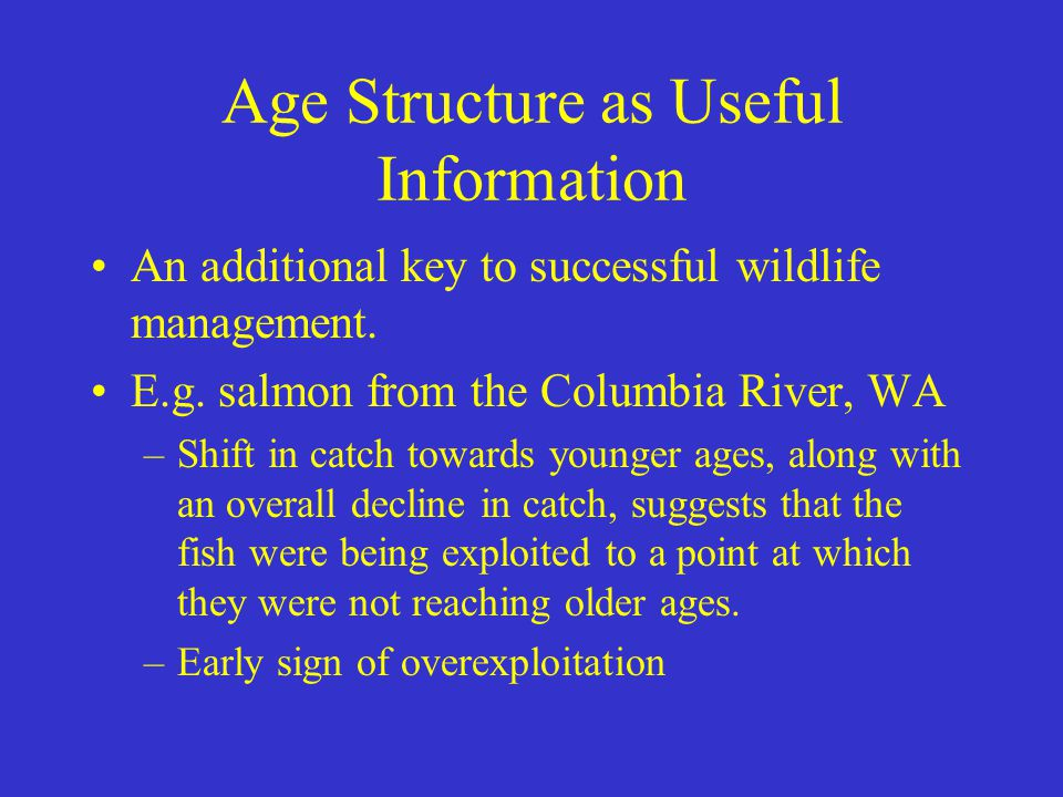 Age Structure as Useful Information