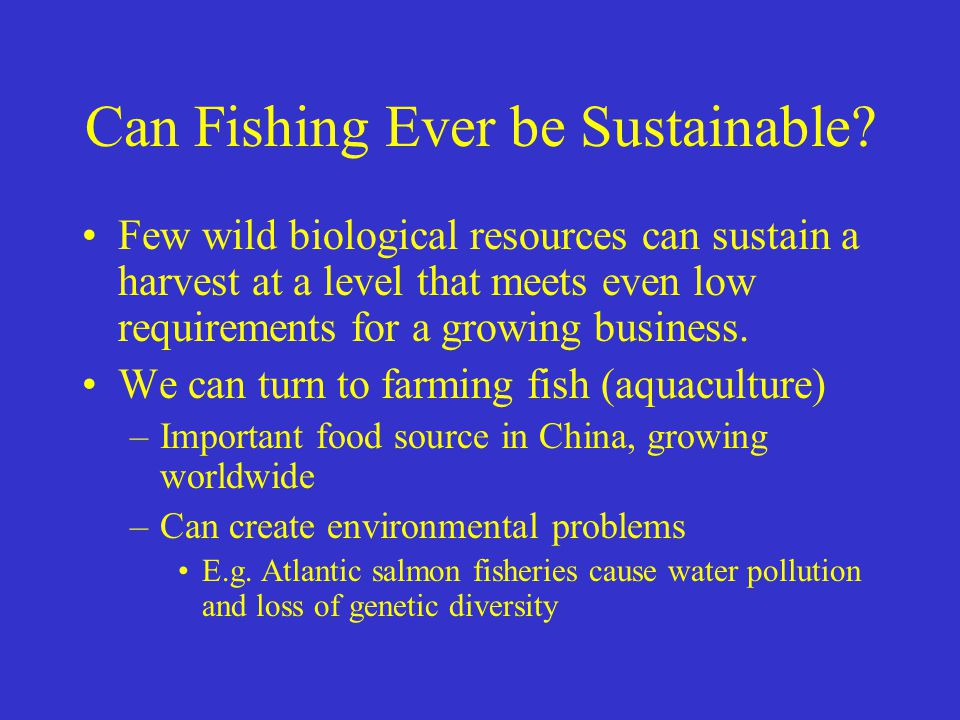 Can Fishing Ever be Sustainable